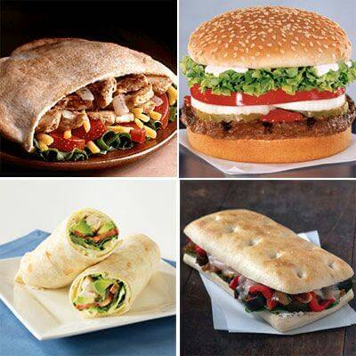 Burgers and Wraps