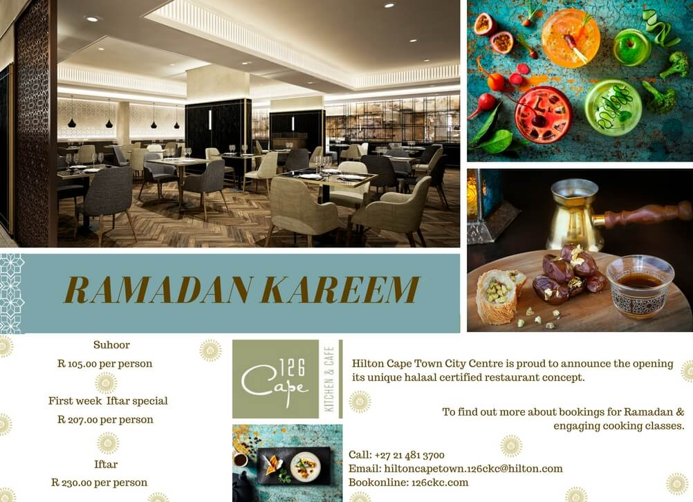 126 Cape Kitchen and Cafe Suhoor & Iftar Ramadaan Special
