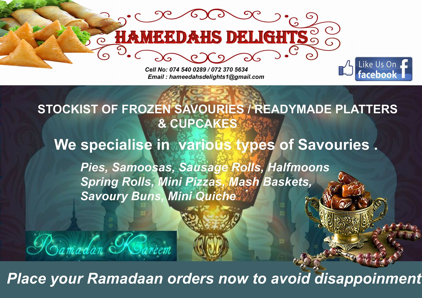 Ramadaan Savouries Hungry for Halaal