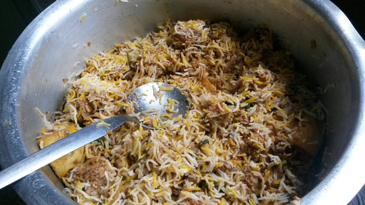 Fire food and big pots Mutton Biryani Hungry for Halaal
