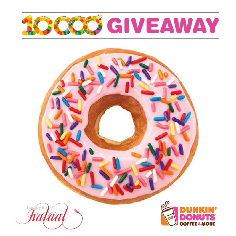 Dunkin Donuts Giveaway Hungry for Halaal