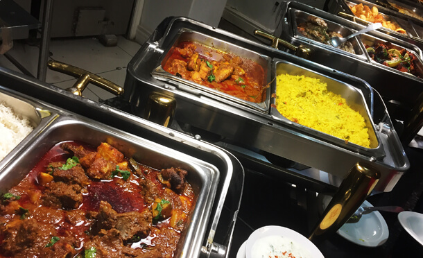 Onr the square buffet Hungry for halaal