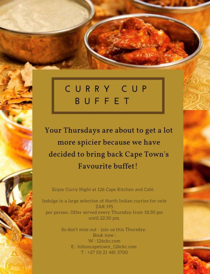 Curry Cup buffet update
