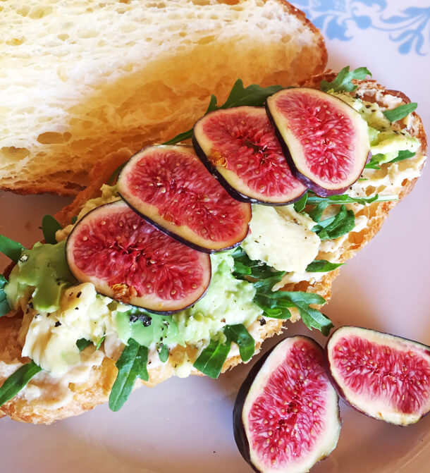Fig and Avo sandwich Hungry for halaal