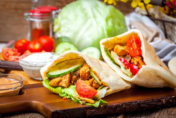 chicken pita R Hungry for Halaal