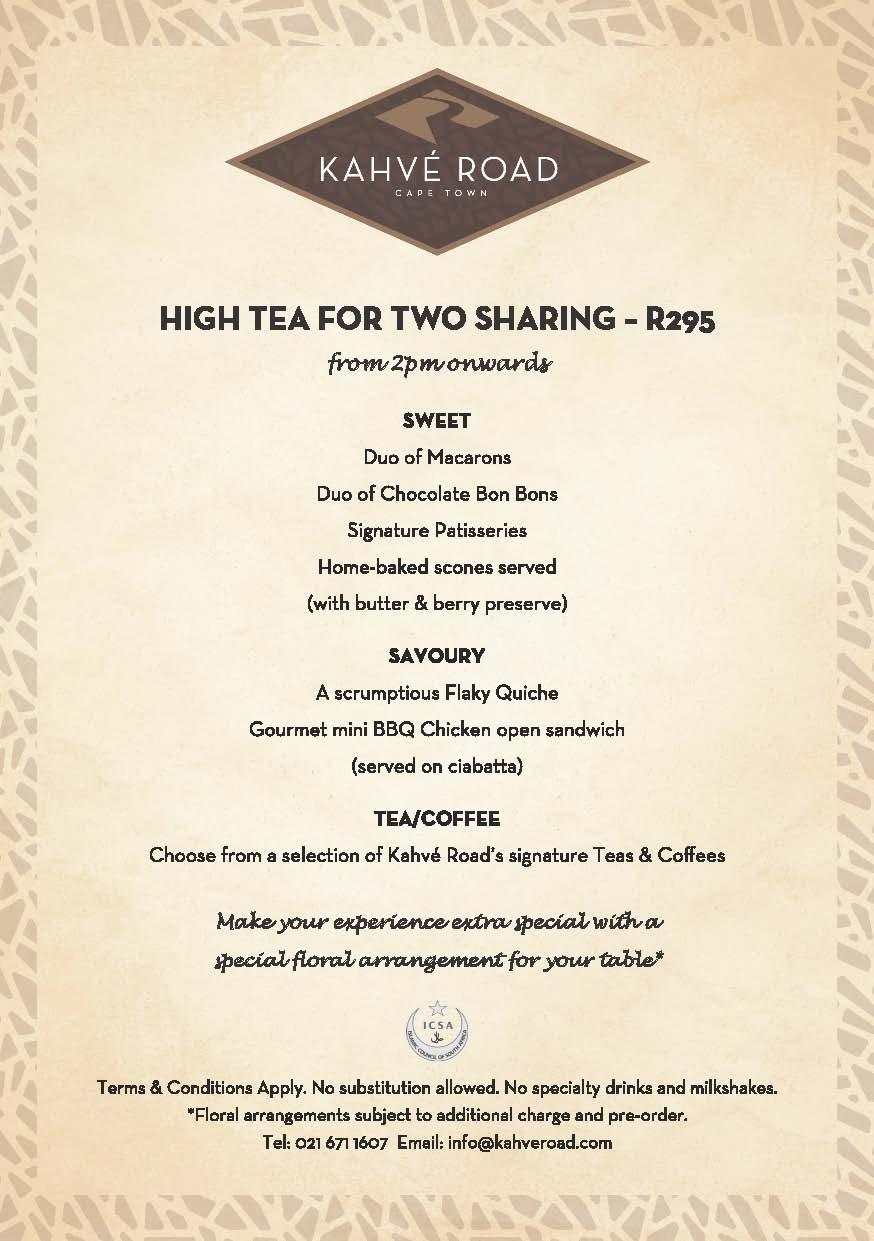 Kahve Road High Tea