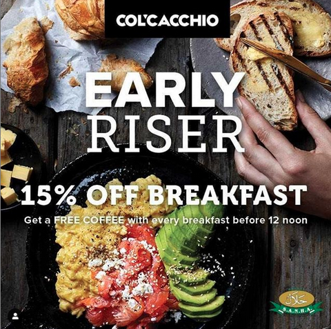 Col'cacchio Mall of the South Breakfast Special, Hungry for Halaal