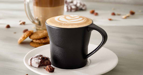 Cappucino and latte mugg and bean